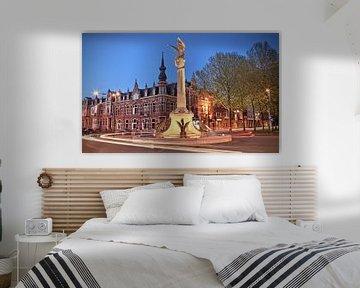D'n Draak van Den Bosch bij avond in kleur van Jasper van de Gein Photography