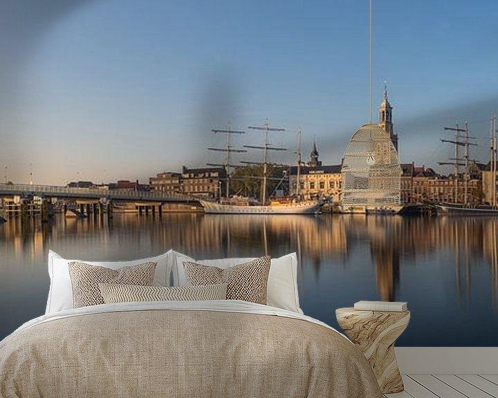 Sfeerimpressie behang: Kampen skyline panorama #2 van Edwin Mooijaart