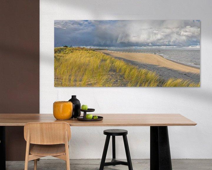 Sfeerimpressie: Strand, zee, wolken, Texel / Beach, sea, clouds, Texel van Justin Sinner Pictures ( Fotograaf op Texel)