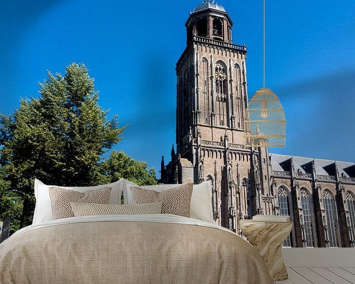 Sfeerimpressie behang: Lebuiniskerk in Deventer van Xandra Ribbers