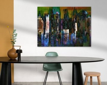 5a. Stedelijke landschap, Manhattan, NY.  (kleur)