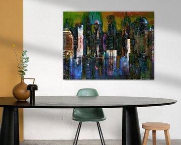 5a. Stadtlandschaft, Manhattan, NY. (Farbe) von Alies werk