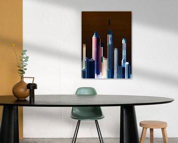 21. city-art, abstract, stad B. van Alies werk