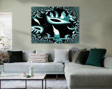 Tribal Cactus Multiplie von Nicky`s Prints