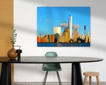 26. City-art, abstract, stad G. van Alies werk