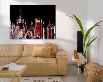 28. City-art, abstract, stad I. van Alies werk