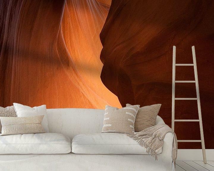 Sfeerimpressie behang: Antelope Canyon Silhouette van Eric - Zichtbaar.com