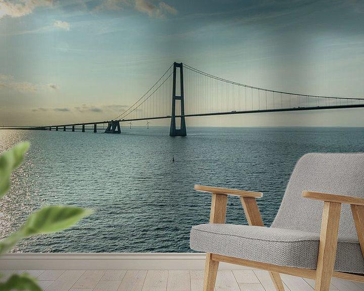 Sfeerimpressie behang: De Grote Beltbrug. van Menno Schaefer