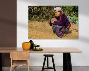 Shan vrouw, Kyaukme, Myanmar von Annemarie Arensen