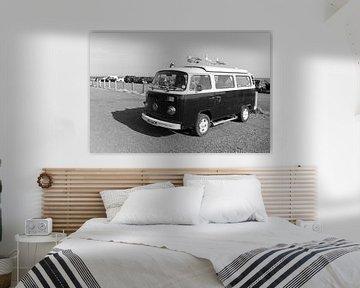 Volkswagen busje met meeuwen in Zuid Engeland von Rob van Dam