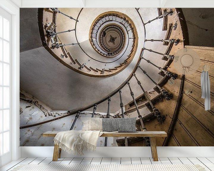 Beispiel fototapete: Treppenhaus mit Spirale in der Villa von Inge van den Brande