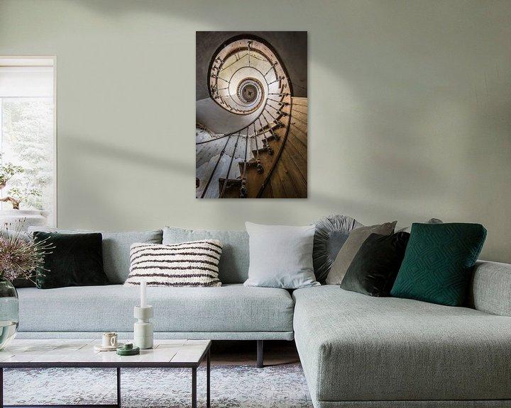 Beispiel: Treppenhaus mit Spirale in der Villa von Inge van den Brande