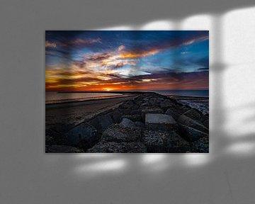 Brouwersdam sunset sur Chris van Es