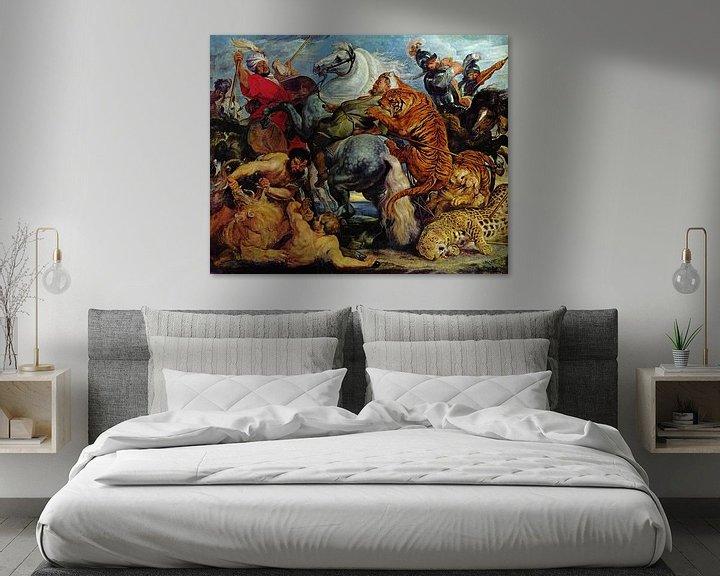 Beispiel: Die Tigerjagd, Peter Paul Rubens
