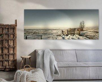 Hekwerk in de sneeuw van Eppo Karsijns