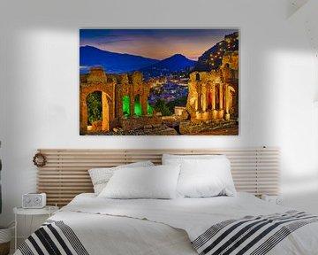 Das Antike Theater Taormina, Sizilien von Niels  de Vries