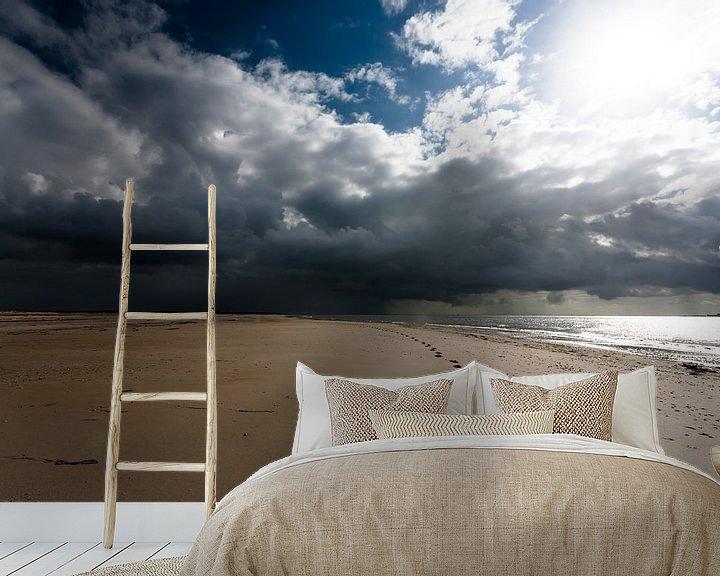 Sfeerimpressie behang: Onweersbui boven de Horsplaat van Martijn Smit