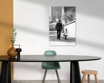 Vader en dochter portret von Cindy Langenhuijsen