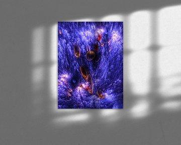 Diepzee met bioluminescentie van Max Steinwald