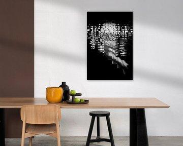 Abstracte vorm met schaduwspel von Studio Zwartlicht