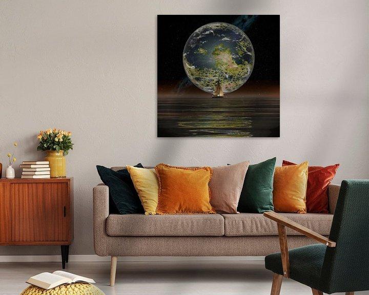 Sfeerimpressie: De Nieuwe Maan aan de horizon van Frans Blok