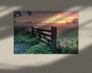 Mooie mistige zonsopkomst van Gijs Rijsdijk