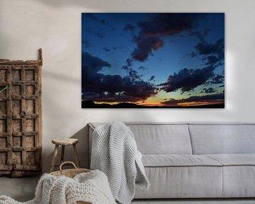 Zonsondergang Barstow van Rob Walburg