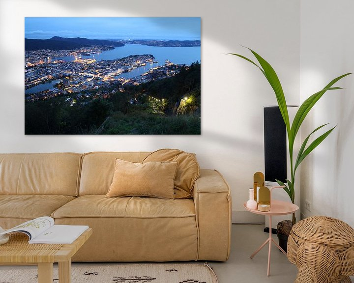 Beispiel: Blick auf Bergen, Norwegen von Sven Zoeteman
