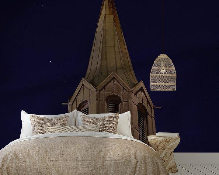 Beispiel fototapete: St. Petri kirke in Bergen, Norwegen von Sven Zoeteman
