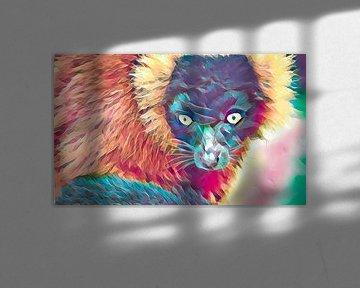 Lemur, farbenfroher Look von Rietje Bulthuis