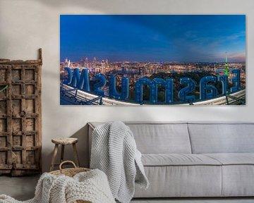 Rotterdam by night van AdV Photography