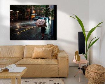 Sintflutartige Regenfälle in New York von Rutger van Loo