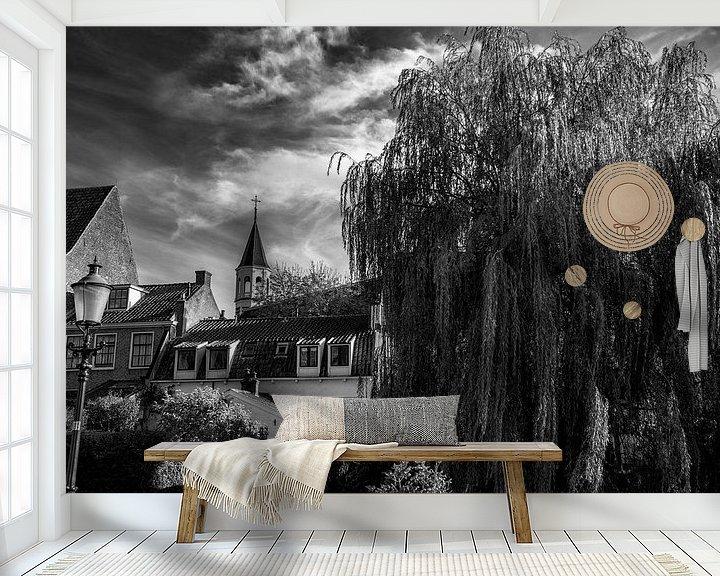 Sfeerimpressie behang: Cityview Amersfoort,  The Netherlands van Roland de Zeeuw fotografie