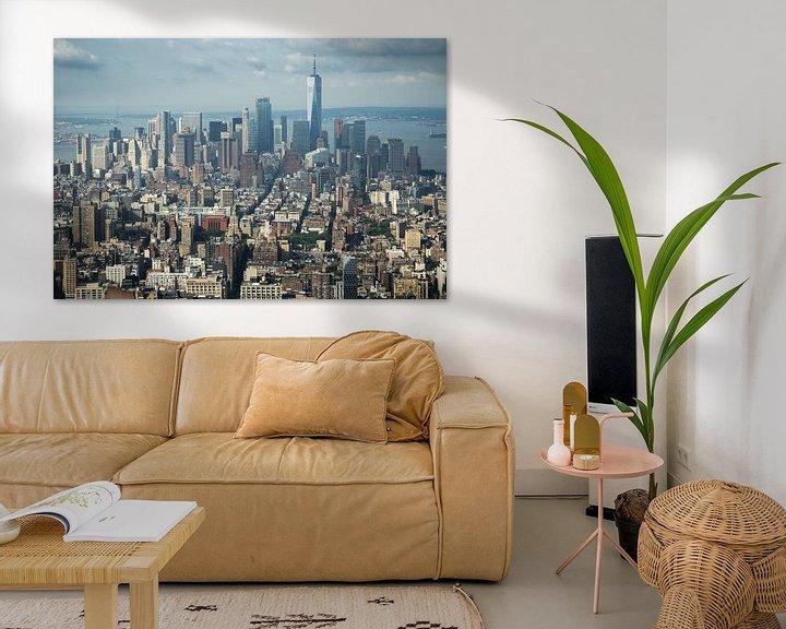 Sfeerimpressie: Uitzicht over New York City vanaf Empire State Building van Karin Mooren
