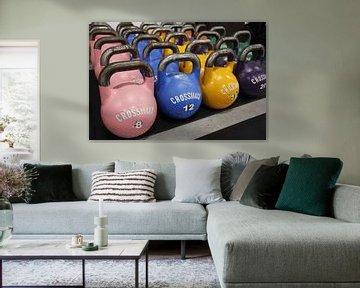 Kettlebells de couleur CrossFit