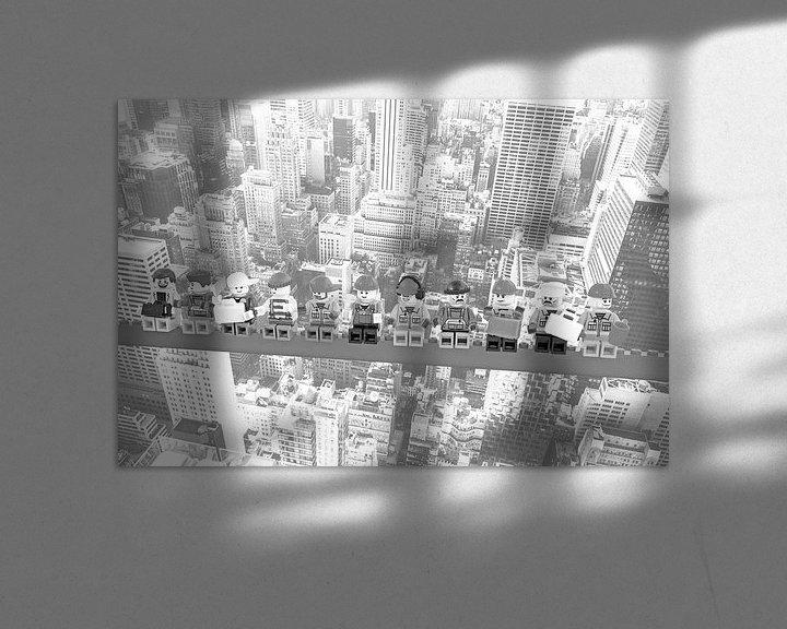 Beispiel: Lunch atop a skyscraper Lego edition - New York von Marco van den Arend