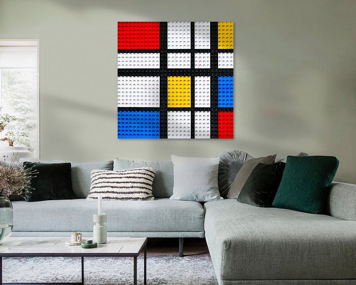 Sfeerimpressie: Lego Mondriaan kunstwerk van Marco van den Arend
