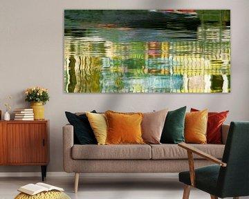 Aquarelle grün von Yvonne Blokland