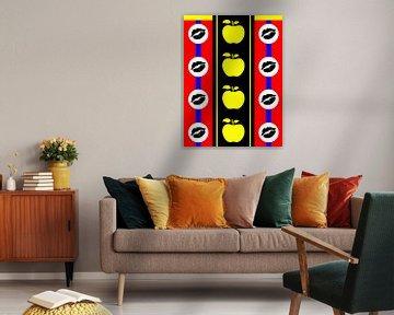 DOES Pop Art Kissing Apples von Doesburg Design