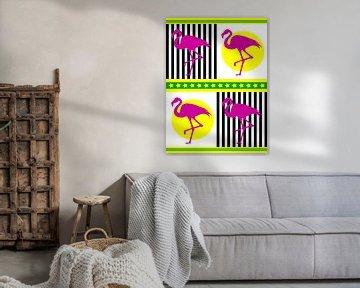DOES Pop Art Flamingos von Doesburg Design