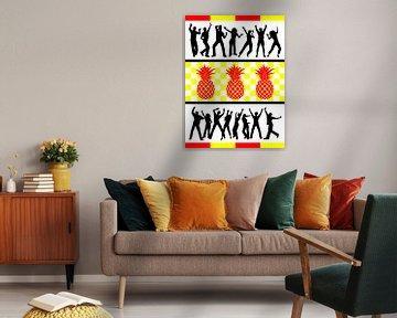DOES Pop Art Pineapple Party von Doesburg Design