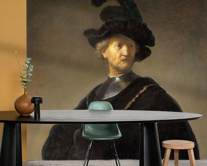 Beispiel fototapete: Portrait eines Mannes, Rembrandt