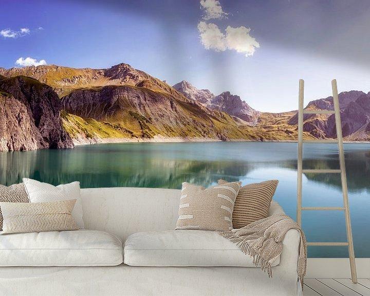 Sfeerimpressie behang: Lünersee, Oostenrijk van Fotografie Egmond