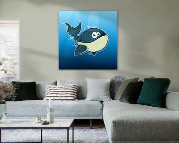 Fröhlicher Wal