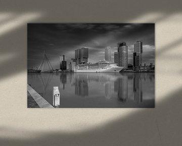 Cruise Terminal Rotterdam in zwart/wit van Dennisart Fotografie