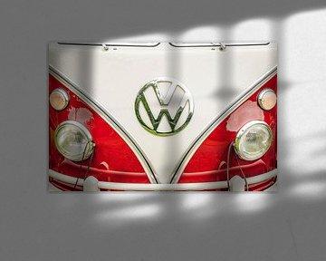 Volkswagen Transporter ou VW T2 écran divisé voiture vue de face sur Sjoerd van der Wal