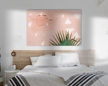 Roze muur in Marrakesh von Yaira Bernabela