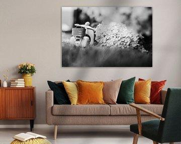 vespa in zwart wit van Kristof Ven