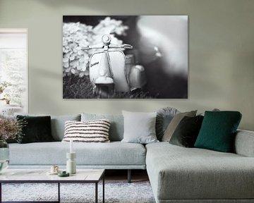 zwart wit vespa van Kristof Ven