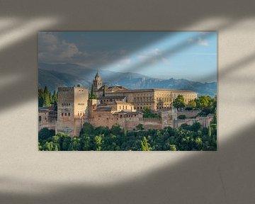 Alhambra Paleis, Granada, Andalusië, Spanje van Peter Apers